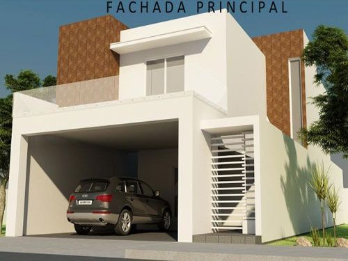 Resultado de imagen para Frente de casa moderna y sencilla con balcón