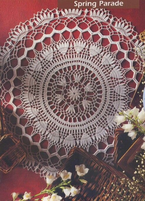 Page 1 of 2 Spring Parade Doily | Projects to Try | Pinterest | Carpeta