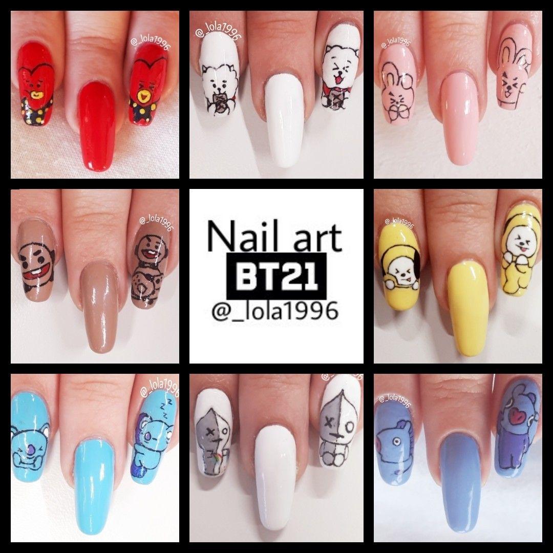 Bts nail art BT BTS Pinterest BTS and Kpop