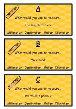 Metric Measurement Scavenger Hunt   Math measurement ...