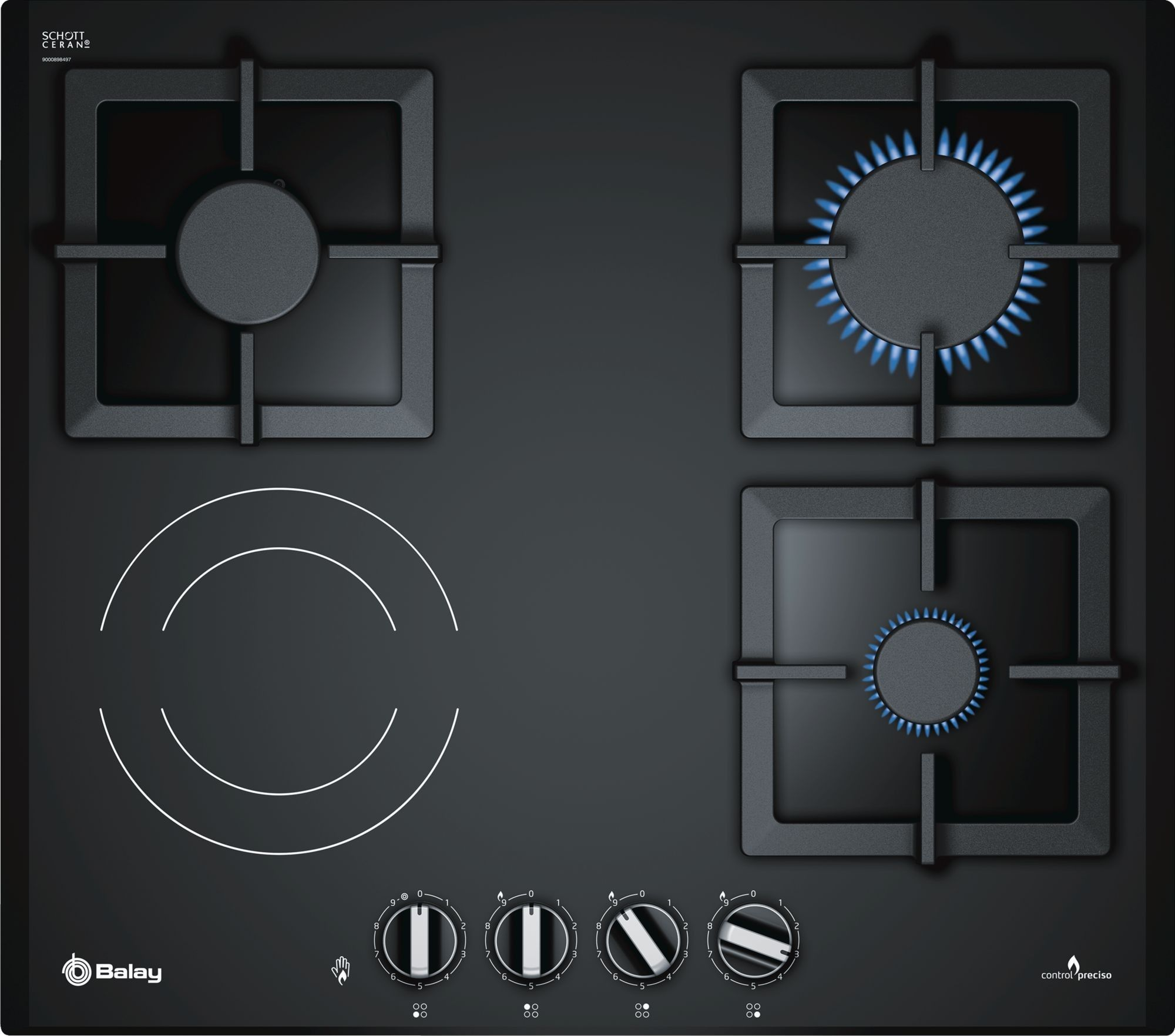 Buy Balay 3etg667hb Built In Combi Black Hob At Bestbuycyprus Com For 479 00 With Free Delivery Cool Things To Buy Hobs Integrated Cooker Hoods