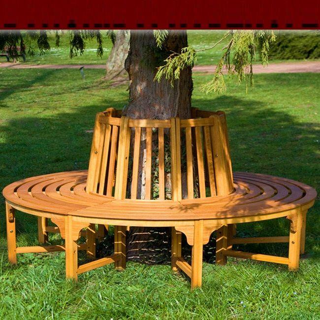 Banc De Jardin Rond Circulaire En Bois Tour D Arbre Baenke