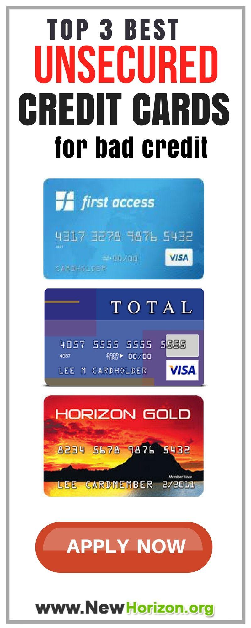Credit Card Offers For Bad Credit >> Unsecured Credit Cards Bad No Credit Bankruptcy O K Bad Credit