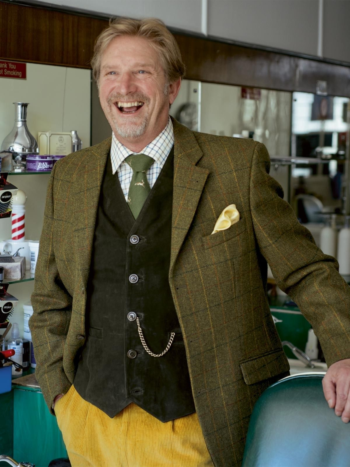 Suede Waistcoat in Evergreen - So versatile, the suede waistcoat holds its own simply with a shirt or stylishly backs up a tweed jacket. Both the warm English Tan or the deep, dark Evergreen work perfectly with our Action Back Jacket. Available in regular or long length (long is 4cm longer).