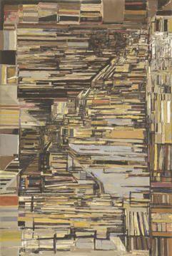 Vieira da Silva Les Degrés 1964 Tempera on Canvas