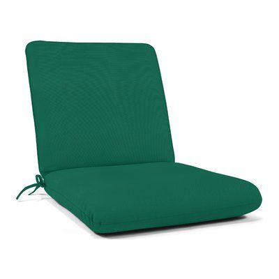 Wildon Home Indoor Outdoor Sunbrella Seat Back Cushion Fabric Canvas Forest Green In 2020 Outdoor Seat Cushions Dining Chair Pads Outdoor Chaise Lounge Cushions