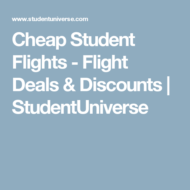Student universe discounts