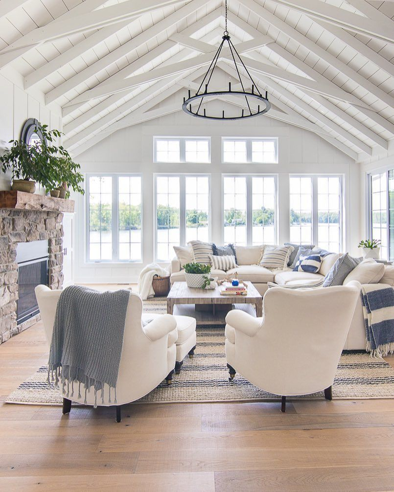 Old House Tour The Lilypad Cottage Coastallivingrooms White Living Room Decor Farm House Living Room Coastal Living Rooms