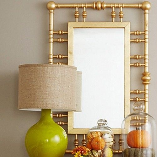 Dunes and Duchess Island House Mirror  Gold is part of Country Home Accessories Mirror -