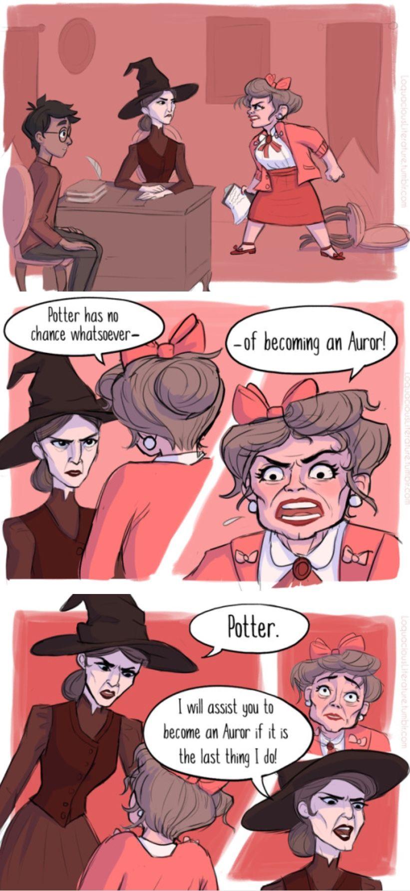 Comic about Professor McGonagall and Umbridge part 3/3 | Nerds