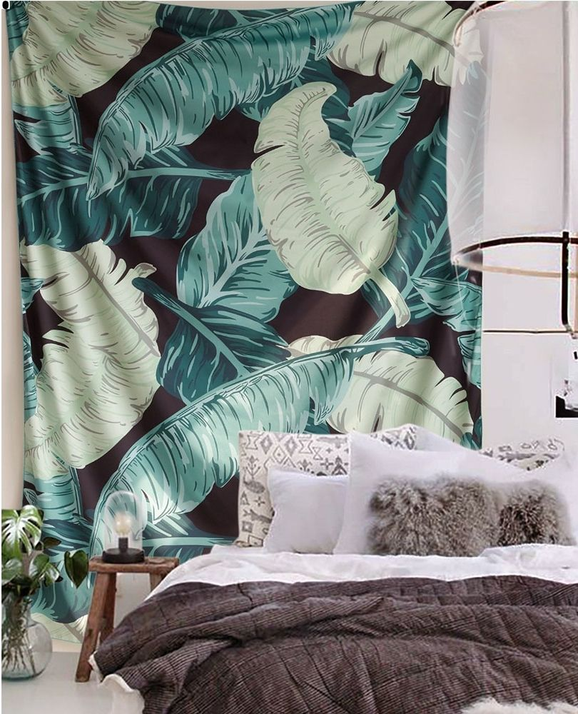 Banana Leaf Tapestry Tropical Trend Home Decor Easy To