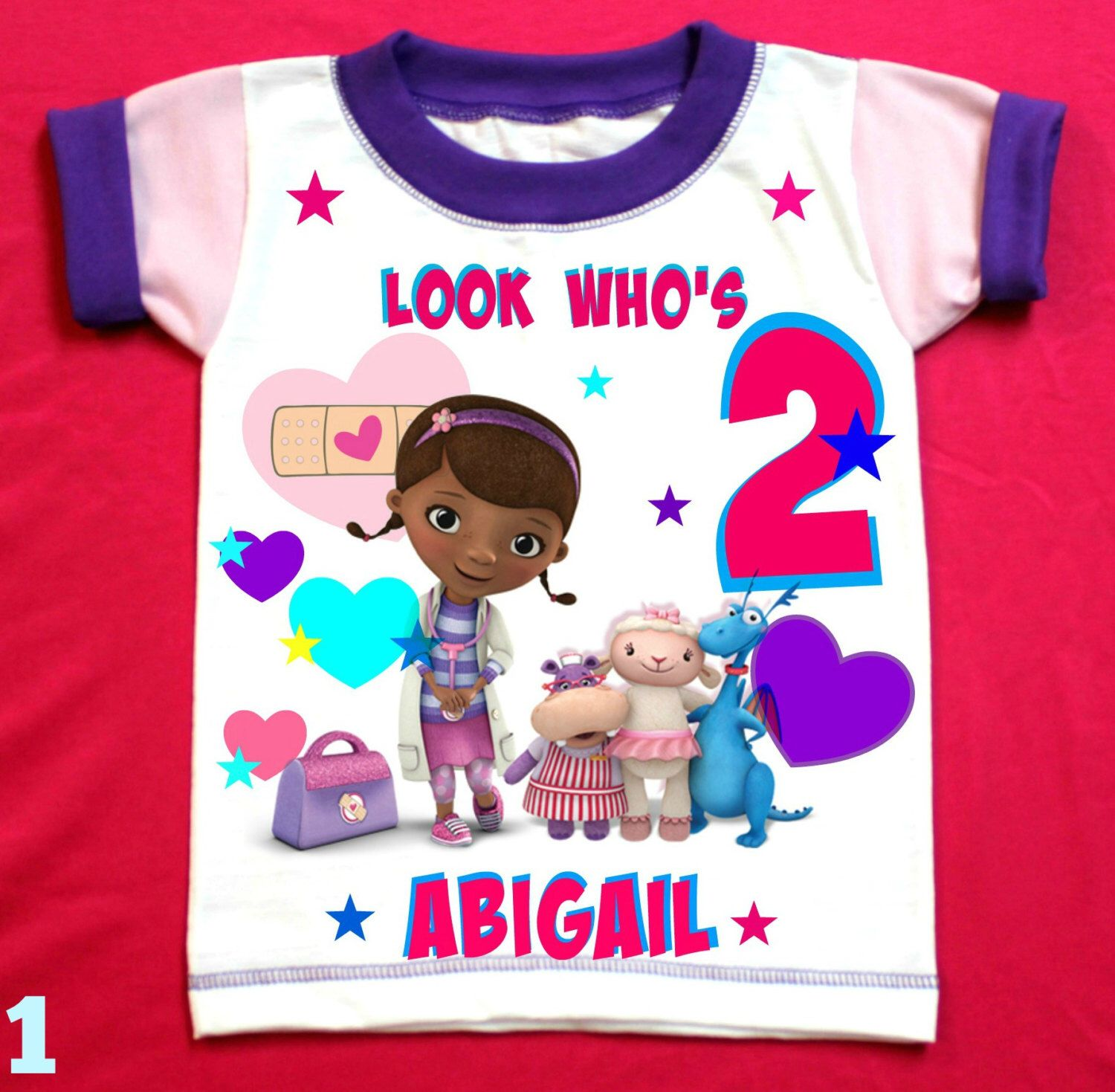 Doc Mcstffins Personalized Birthday Girl Shirt With Child