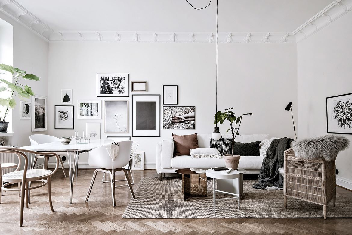 5 Scandinavian Living Rooms With A Bohemian Twist The Edit