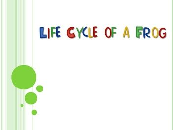This is a PowerPoint on the Life Cycle of a Frog.  It includes real images of frogs during the stages of life.  The PowerPoint also includes review...
