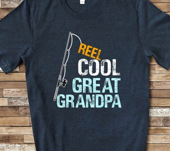 Reel Cool Great Grandpa Shirt Tshirt Great Grandpa Gift from | Etsy
