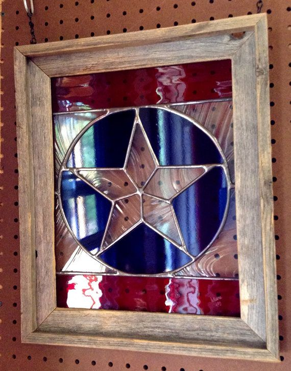 Rustic Texas Star Stained Glass Panel Window by GrammysGlitter, $135.00