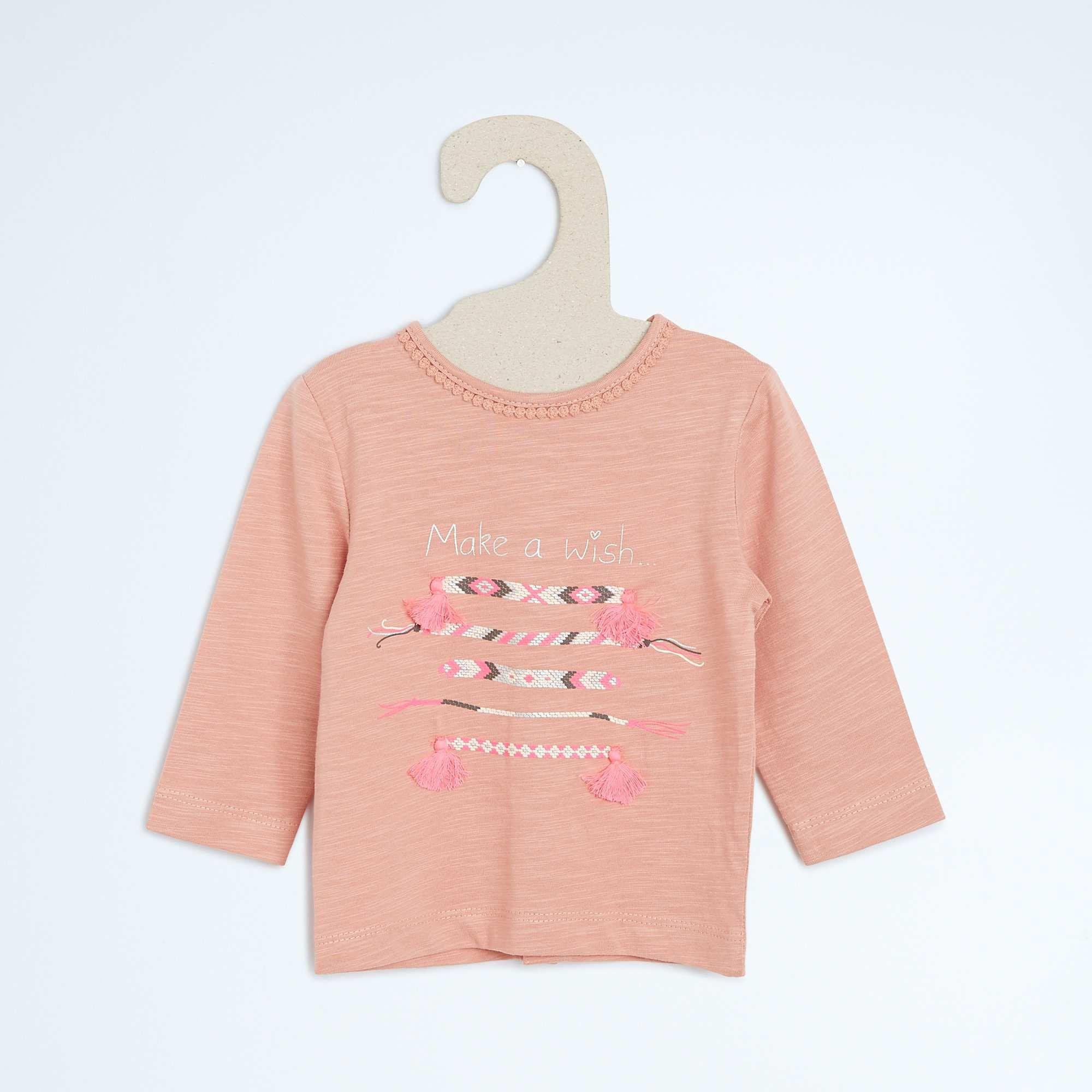 5ddc5c900834e Tee-shirt imprimé message reliefé Bébé fille - Kiabi - 6
