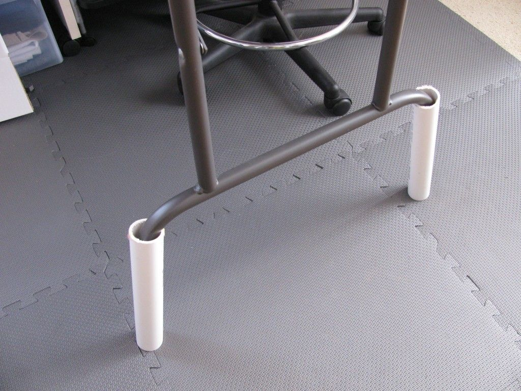 Pvc To Raise Height Of Table   Check Out Costco For Tile Pads   Cheap!