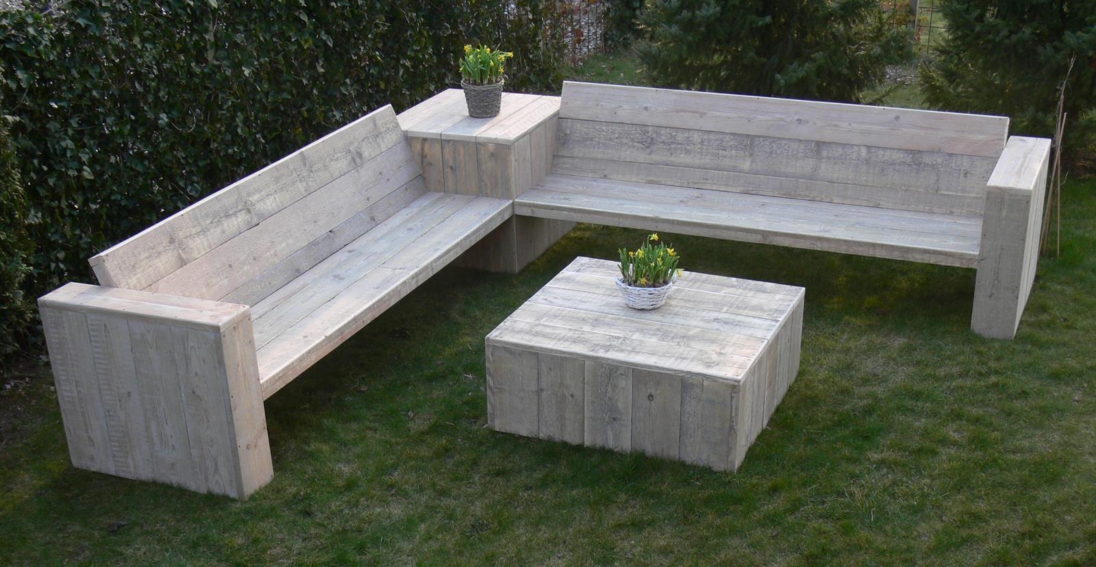 Afbeeldingsresultaat voor loungebank tuin steigerhout hout