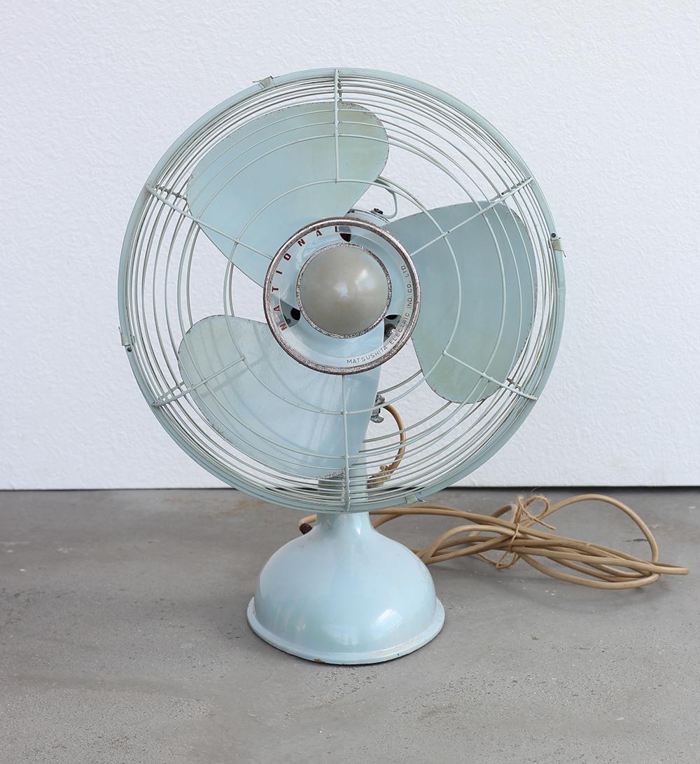 ナショナル製 レトロな水色の扇風機 古道具の通販 オンラインショップ 古道具めぐる 扇風機 水色 レトロ