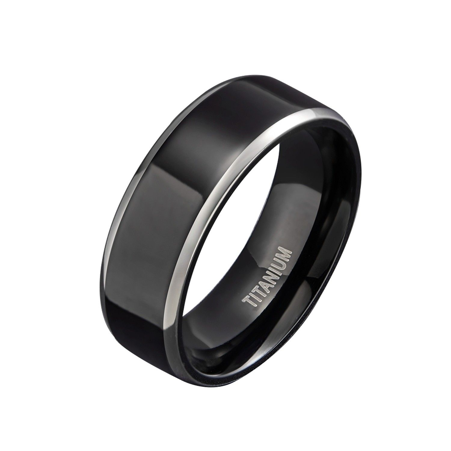 Black High Polished Rings in Titanium (With images