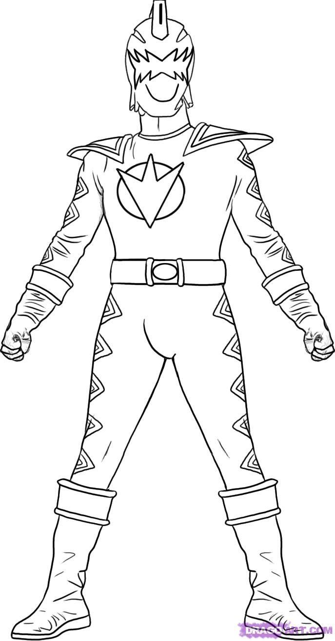 Dinosuar Power Ranger coloring page for boys | Preschool coloring ...