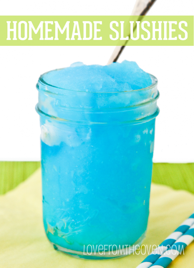 Easy Homemade Slushee Recipe Love From The Oven Homemade Slushies Slushies Slushie Recipe