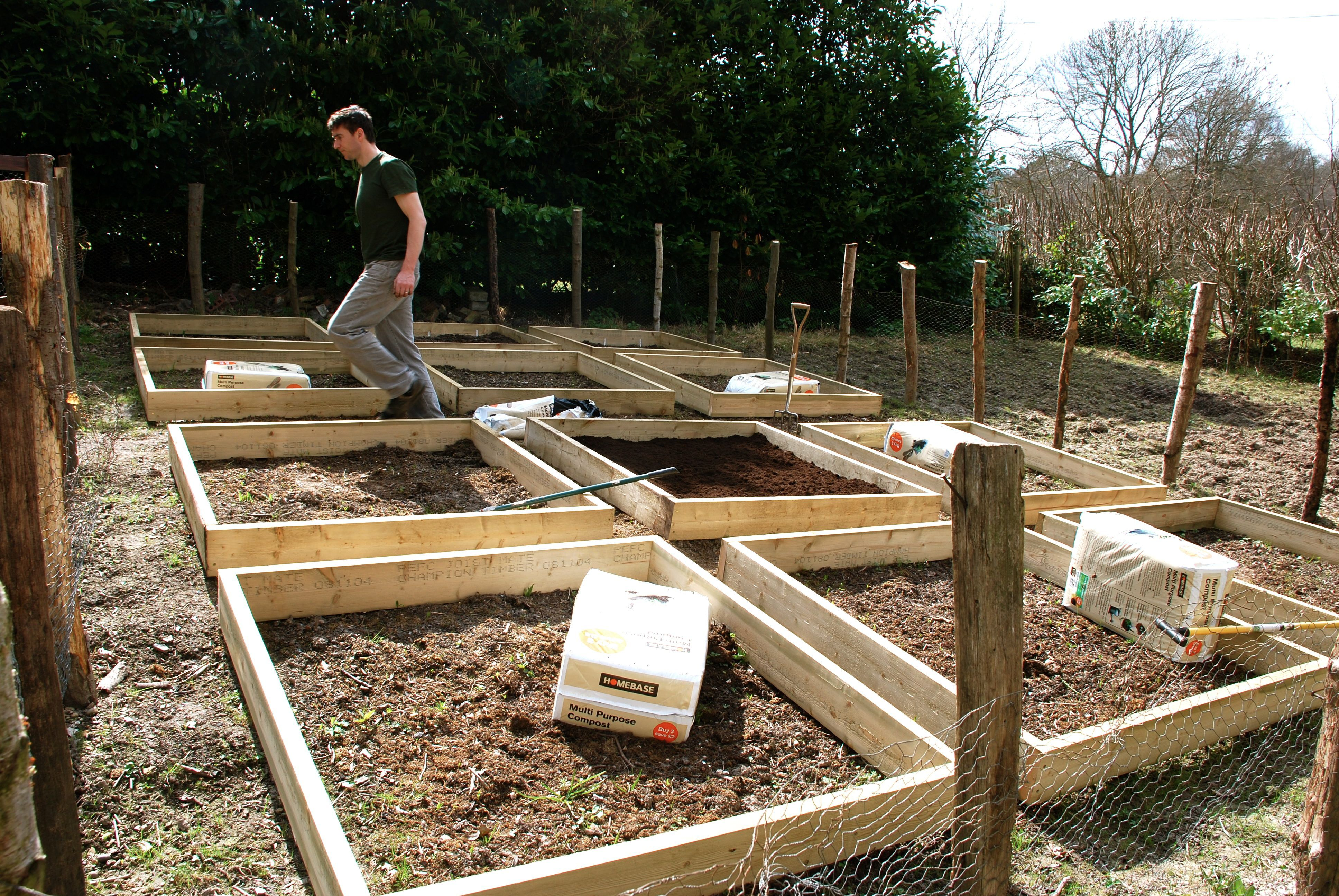 Raised Bed Vegetable Garden | Making raised beds for our vegetable ...