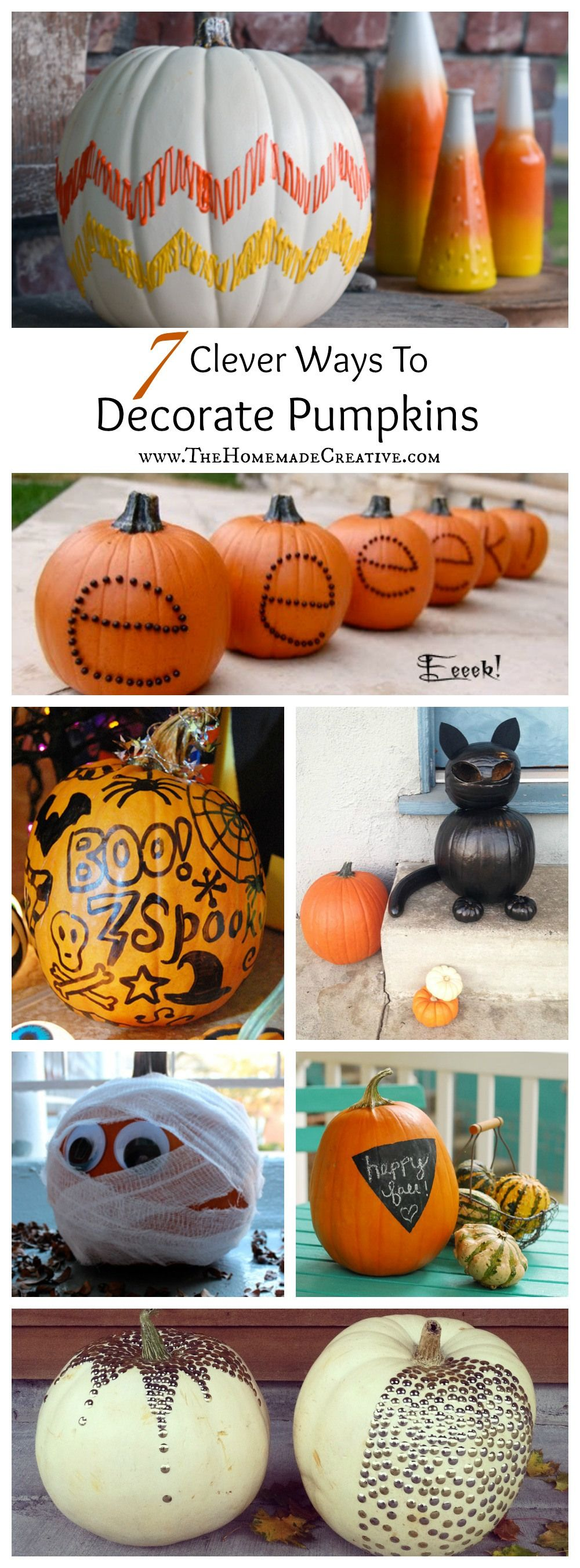 7 Clever Ways To Decorate Pumpkins | The Homemade Creative ...