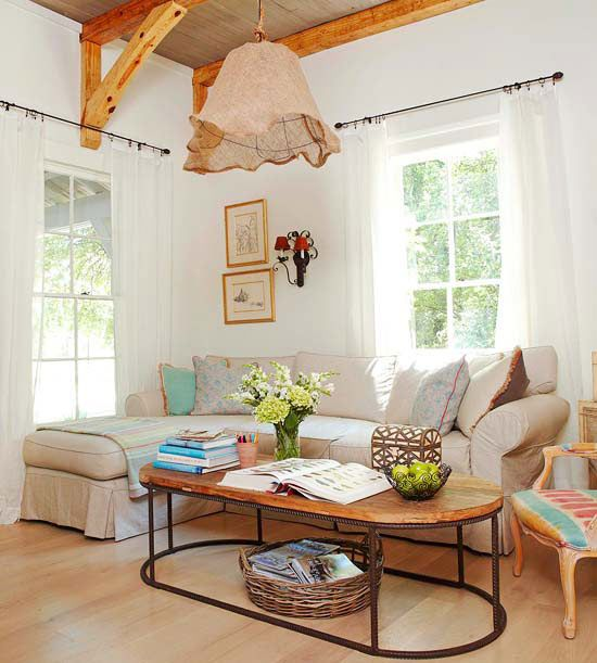 2013 Neutral Living Room Decorating Ideas From Bhg: Furniture Design: 2013 Country Living Room Decorating