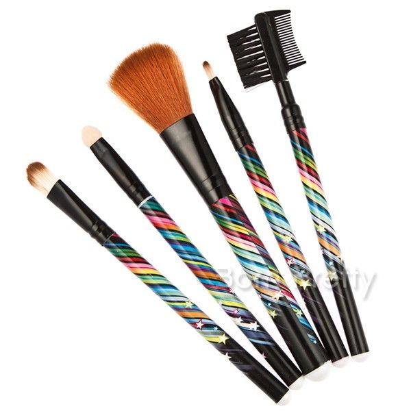Make up brush set! Use my code ANGELIQUEC10 to save 10% on your order @BornPrettyStore, 5Pcs Colorful Rainbow Brush Makeup Brush Set at $6.96. http://www.bornprettystore.com/-p-15919.html