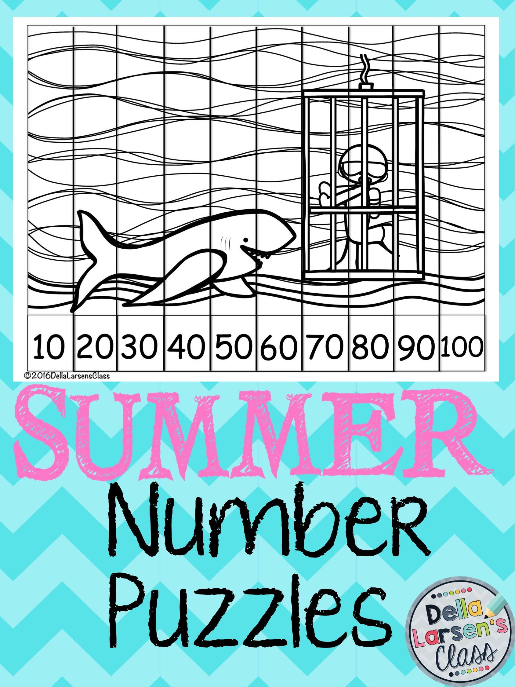 Summer No Prep Number Puzzles | Number puzzles, Worksheets and Number