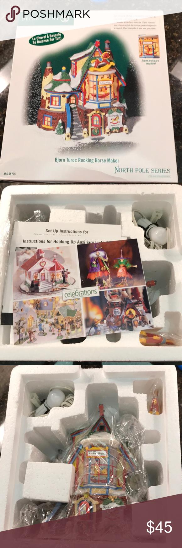Department 56- North Pole Series. New in box. Bjorn Turoc Rocking Horse Maker village piece for North Pole Series. New in box. Has never been out of box. department 56 Holiday Holiday Decor #department56