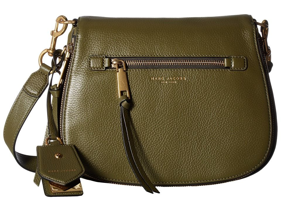 e4df177199 MARC JACOBS MARC JACOBS - RECRUIT SADDLE BAG (ARMY GREEN) HANDBAGS. # marcjacobs #bags #shoulder bags #leather #crossbody #