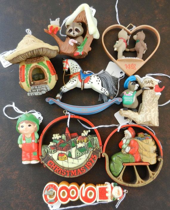Vintage Hallmark Ornaments 9 Pieces Hallmark Christmas Ornaments Vintage Christmas Ornaments Christmas Ornaments