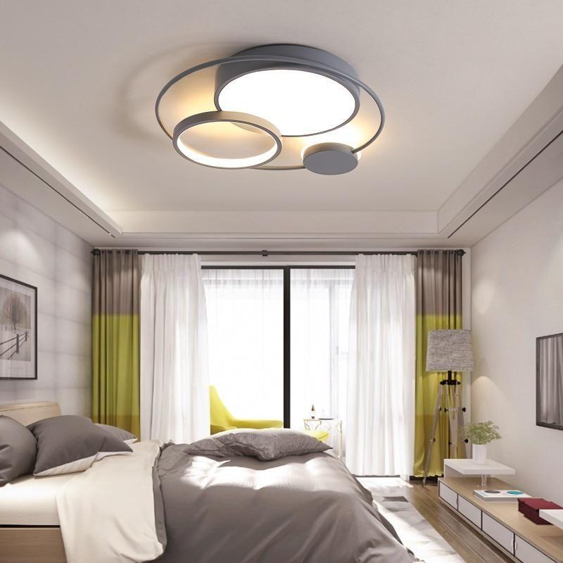 Modern Led Ceiling Lights For Living Room Bedroom Study Room Black White Or Grey Colo Living Room Lighting Modern Led Ceiling Lights Ceiling Lights Living Room