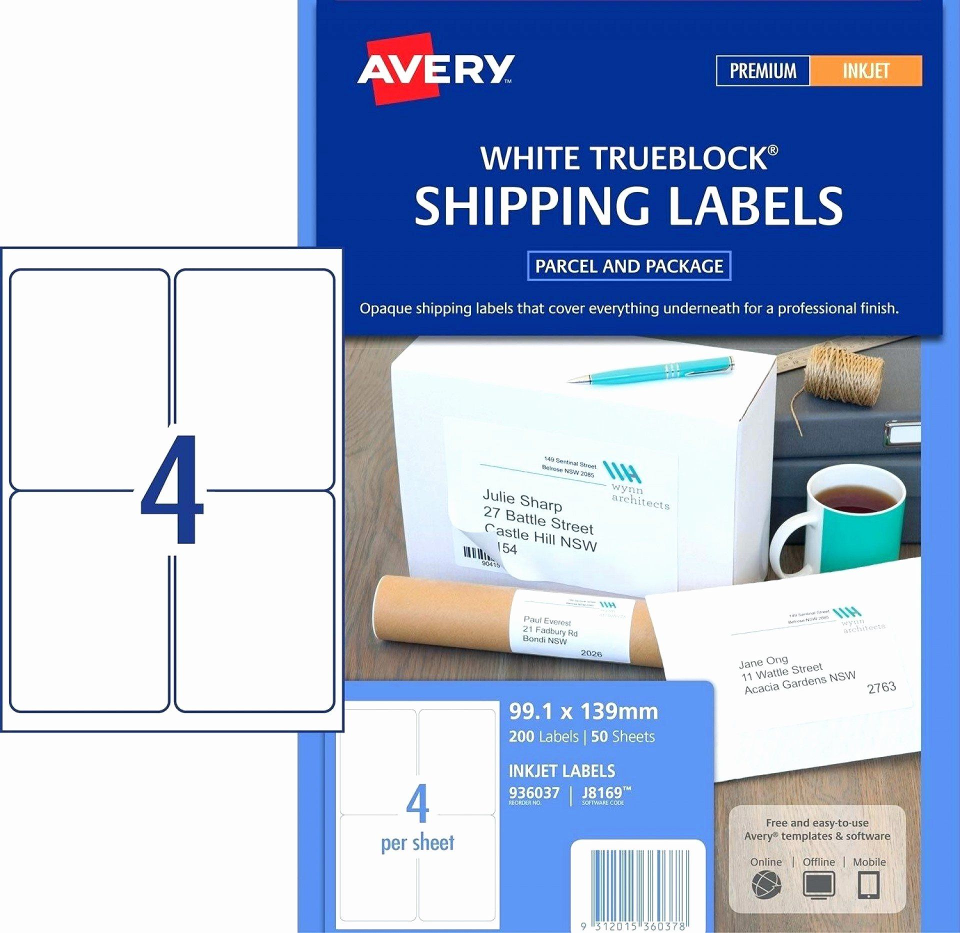 24 Avery Easy Peel Labels Template In 2020