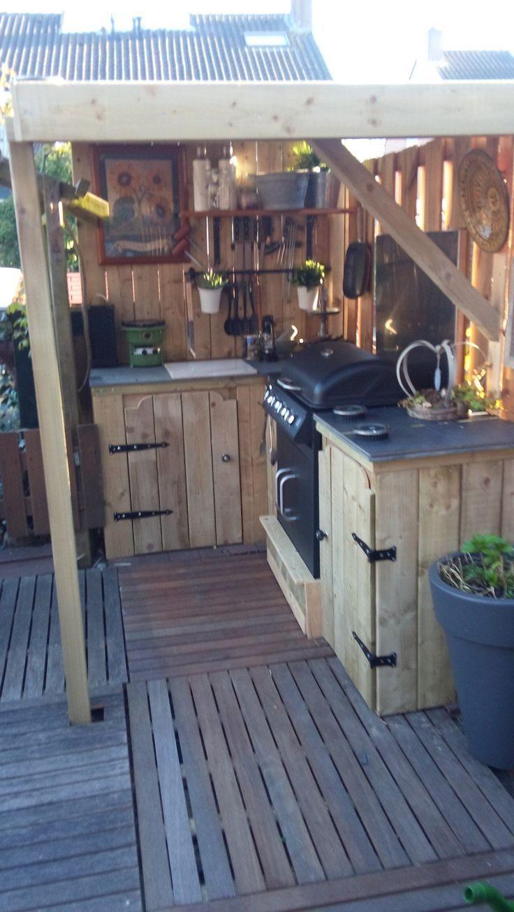 30 unglaubliche moderne Outdoor-Küche Design-Ideen für Ihre Party genießen - Im Freien diy Dekorationen #topkitchendesigns
