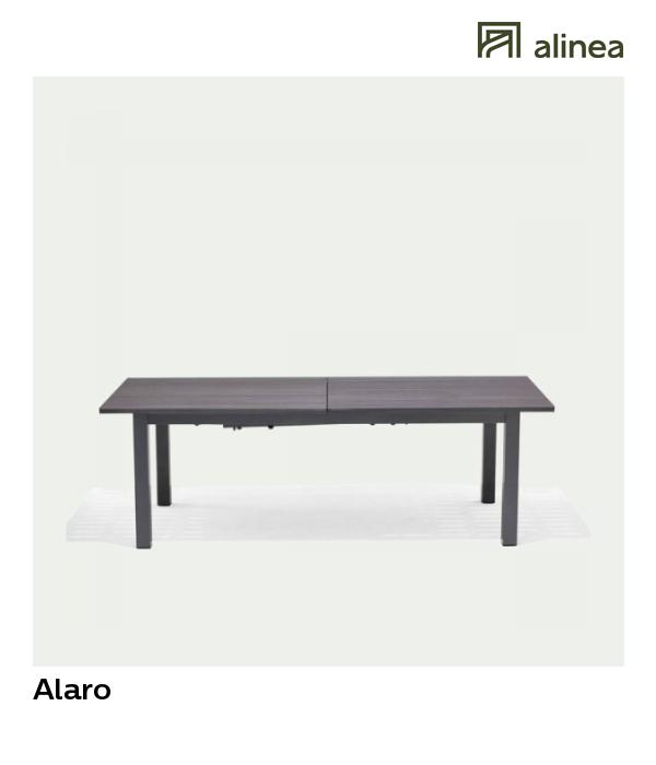 alinea : alaro table de jardin extensible en aluminium (6 à ...