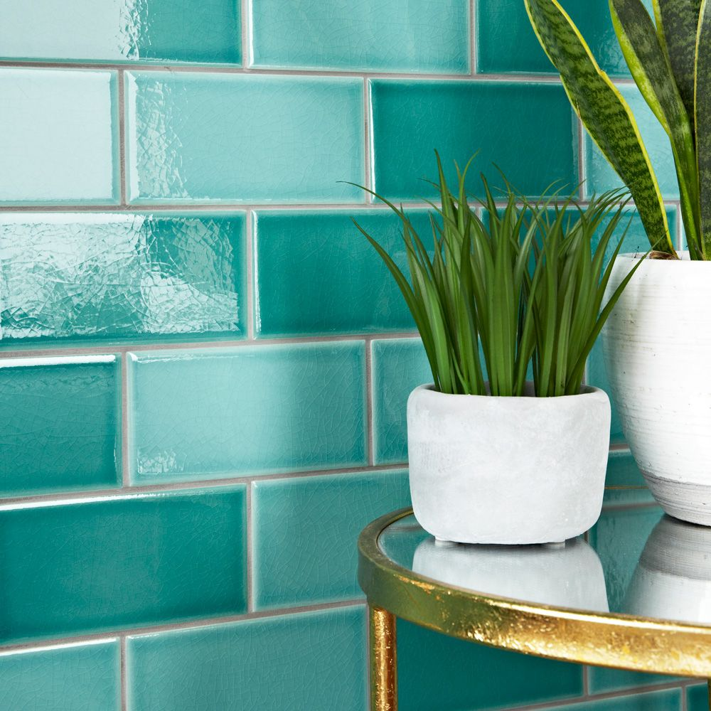 Antique crackled teal metro tiles ideal for creating a colourful antique crackled teal metro tiles ideal for creating a colourful vintage look dailygadgetfo Gallery