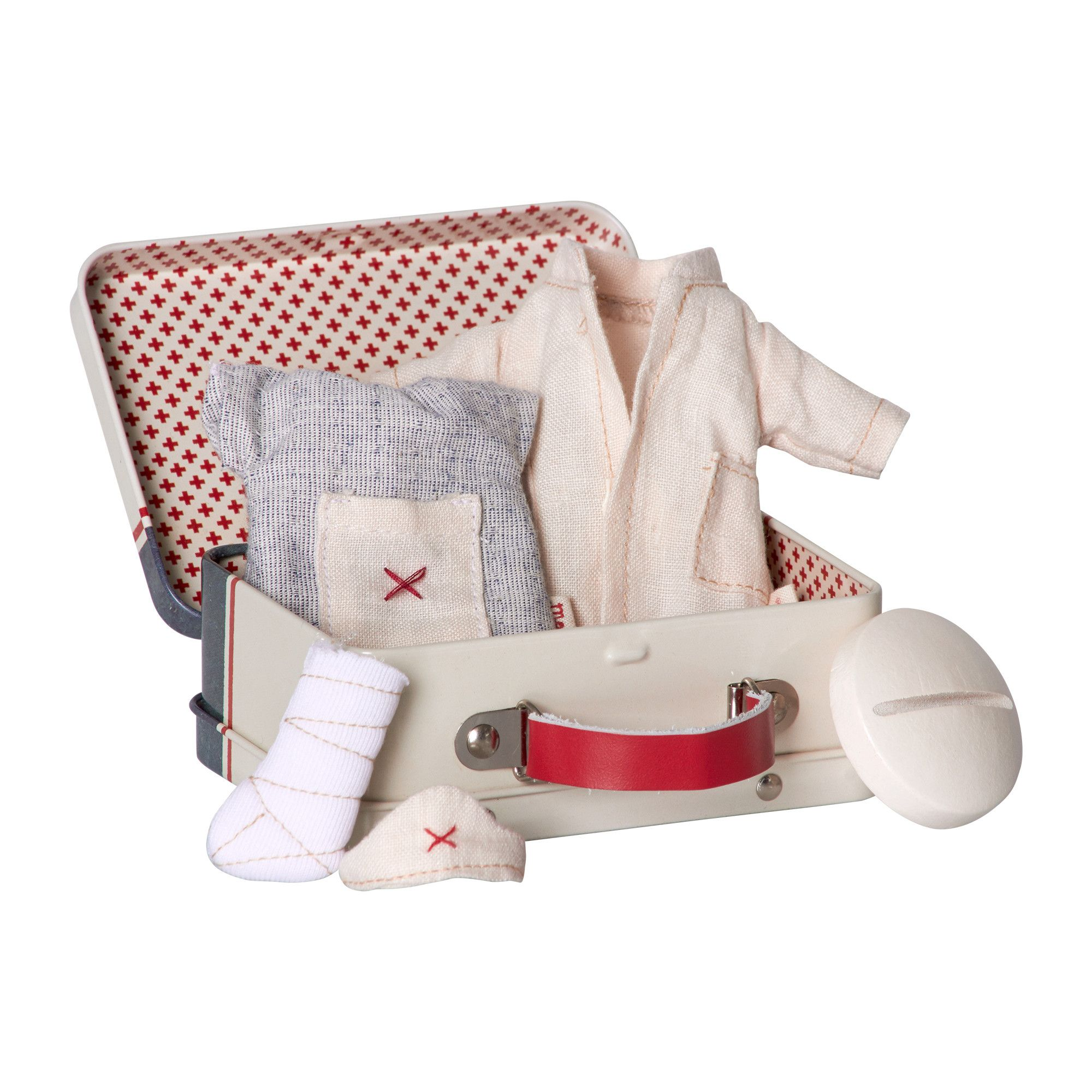 Maileg First Aid Tin Suitcase with Doctor & Nurse Clothes Set ...
