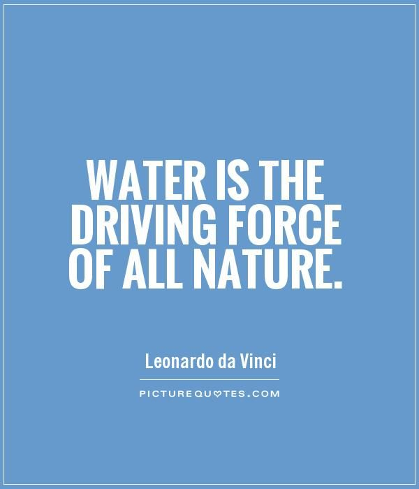 Water Quotes Entrancing Water Is The Driving Force Of All Naturepicture Quotes H2O . Design Ideas