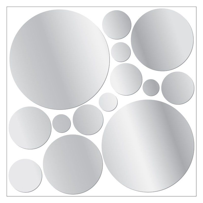 Have To Have It Mirrored Dot Wall Stickers 21w X 15h In 22 99