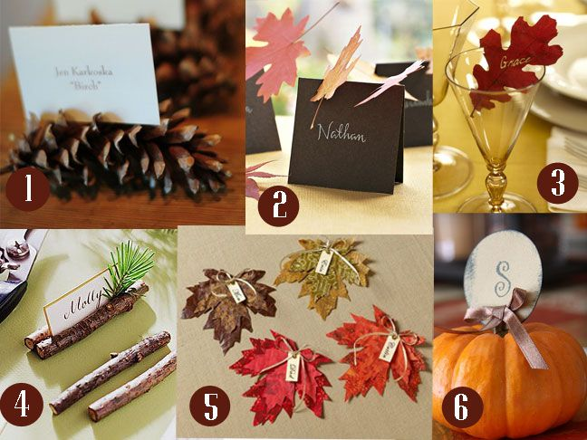 Easy to make place card ideas