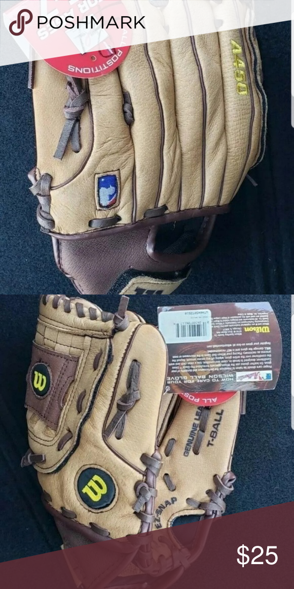Wilson Baseball Glove A450 10 Inches Youth Brand New Baseball Glove Ages 5 7 Right Hand Thrower Light Brown Color Wilson Oth Baseball Glove Baseball Gloves