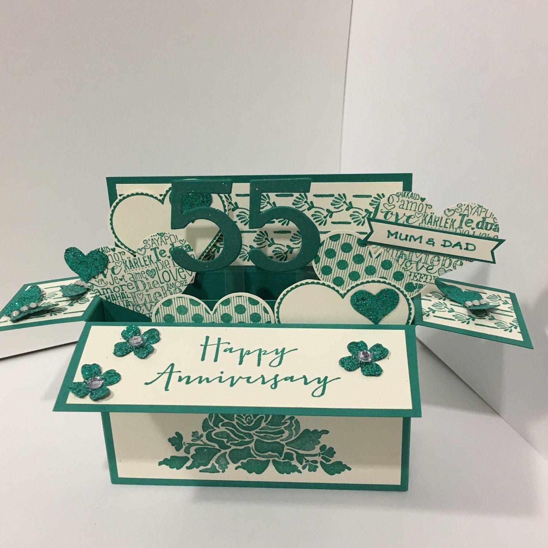 Emerald Anniversary Card 55 Years Etsy Anniversary Cards Handmade Emerald Anniversary Anniversary Cards