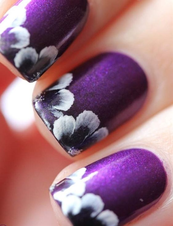 Cute Purple Nail Design For Kids