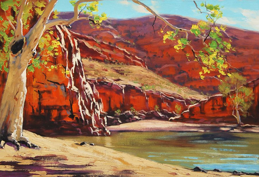 Outback Australia By Graham Gercken Landscape Paintings Australian Painting Landscape Art