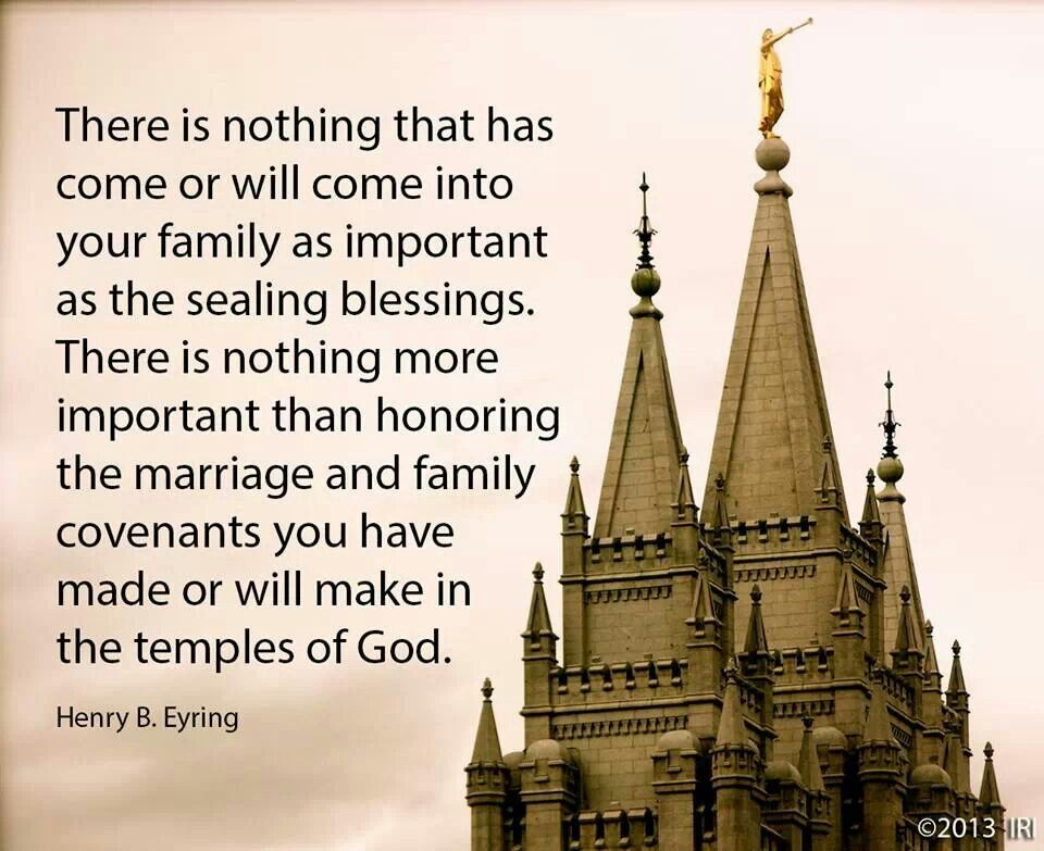 Eternal Families | The House of the Lord | Temple quotes lds, Lds