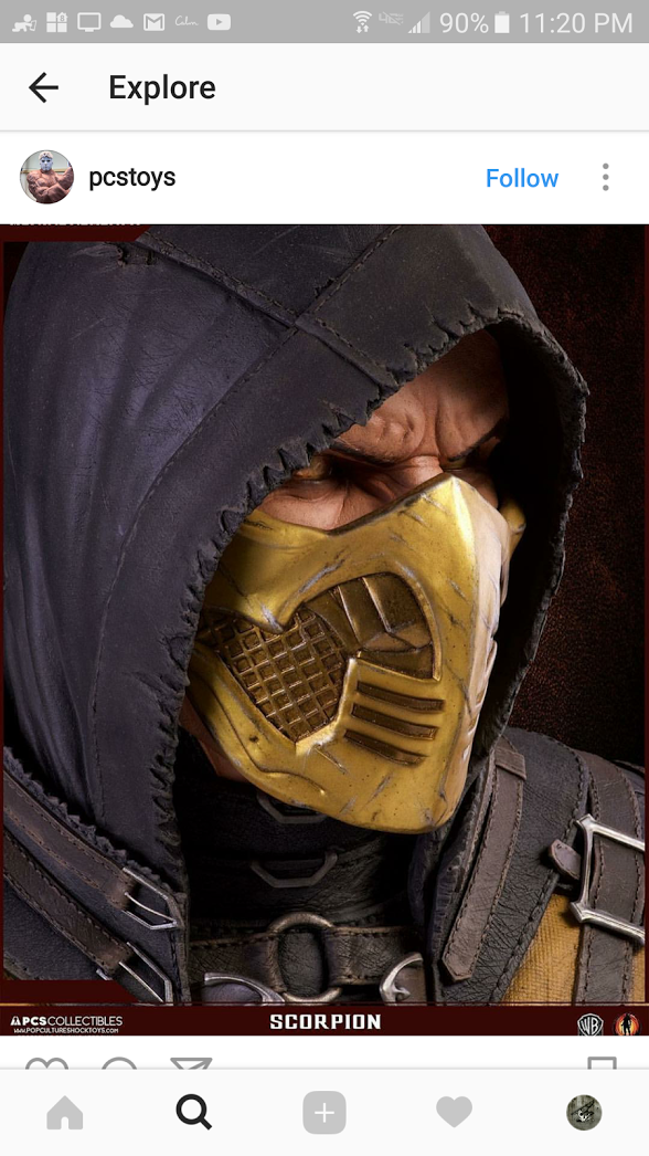 Mortal Combat Scorpion Mask Design Mortal Kombat Mortal Kombat Mask Scorpion